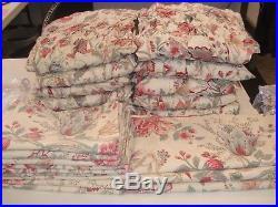 POTTERY BARN SMOCKED CURTAINS & SHAMS-HUGE LOT! BEST DEAL ON Ebay! FREE SHIP