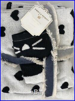 POTTERY BARN Teen Emily Meritt Critter Shower Curtain and Critter Cat Towel Set