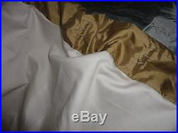 Pottery Barn Wheat Silk Embroidered (pair) Lined Drapery Curtain Panels 50 X 84