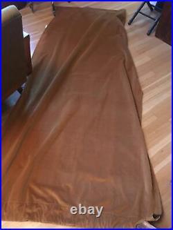 Pair/2 Pottery Barn Velvet Rod Pocket Panels Drapes Curtains wheat gold 94