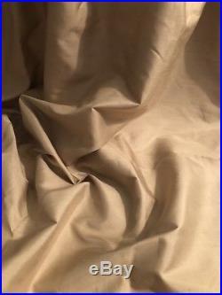 Pair Pottery Barn Dupioni Silk Parchment 50x84 Rod Pocket Drapes 3 Pair Avail