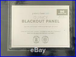 Pair of Pottery Barn Quincy Cotton Canvas Blackout Curtains Navy 96 NEW