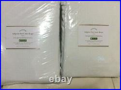 Pottery Barn 2 Belgian Classic Flax Linen Blackout Drapes 50x108 White Curtains