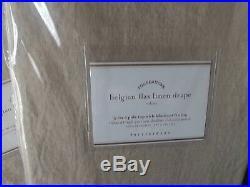 Pottery Barn 2 Belgian Flax Linen Drapes 50x84 Dark Flax / Blackout Lining NIP