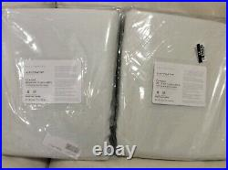 Pottery Barn 2 Belgian Linen Drapes Curtains 50X84 Blackout Lining Classic Ivory