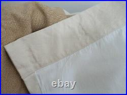 Pottery Barn 2-Tone Neutral Linen Fully Lined Curtain Panel Pair Beige Tan 96