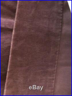 Pottery Barn 3 Purple Velvet 100W x 96L Each Window Panels Curtains Drapes