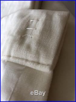 Pottery Barn 50 X 84 velvet 4 Panels Ivory Lined
