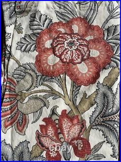 Pottery Barn 50x84 Drapes Curtains 2 Panels Allegra Palampore Linen Cotton Blend
