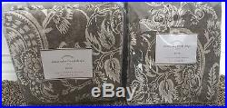 Pottery Barn Alessandra floral blackout 50x84 drapes gray 2 PANELS