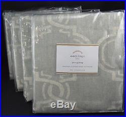 Pottery Barn Avery Cotton Linen Drape Curtain Lined 50x 84 Pole Top Gray S/4 #29