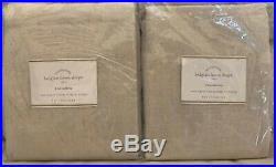 Pottery Barn BELGIAN FLAX LINEN Drapes Set of Two50 x 84NaturalNWT