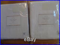 Pottery Barn BELGIAN FLAX LINEN SHEER DRAPES-SET OF 2-WHITE-50 X 108-NIP