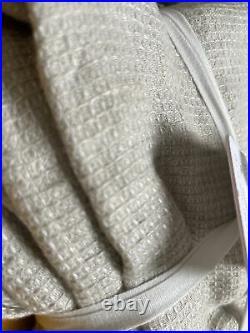 Pottery Barn BELGIAN FLAX Linen Waffle Shower Curtain 72 x 72 Flax Neutral