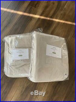Pottery Barn Beige Velvet Twill Drape Curtains 50x108 (pair) Sand-New Open Box