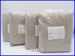 Pottery Barn Belgian Flax Cotton Lined Curtain Drape Dark Flax 50x96 S/4 #F36