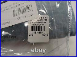 Pottery Barn Belgian Flax Curtain Cotton Lining Blue Chambray 50x 84 #7696