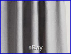 Pottery Barn Belgian Flax Linen 50x96 drapes GRAY two PANELS unlined