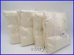 Pottery Barn Belgian Flax Linen Cotton Lined Curtain Drape Ivory 50x84 S/4 #E26