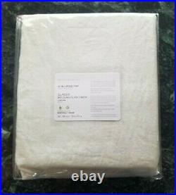 Pottery Barn Belgian Flax Linen Curtain 100x108 Panel Ivory NEW Free Shipping