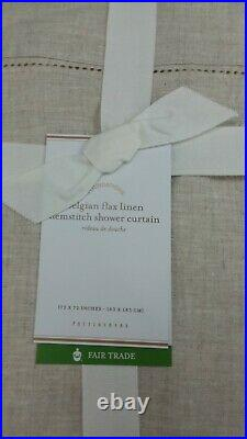 Pottery Barn Belgian Flax Linen Hemstitch Shower Curtain 72 Flax #4564
