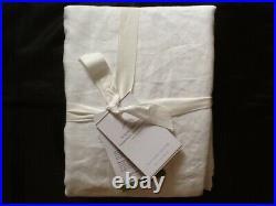 Pottery Barn Belgian Flax Linen Hemstitch Shower Curtain White 72 X 72 New