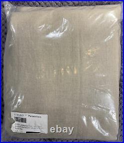 Pottery Barn Belgian Flax Linen Rod Pocket Blackout Curtain 50 x 84, Dark Flax