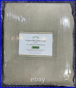 Pottery Barn Belgian Flax Linen Rod Pocket Blackout Curtain 50 x 96, Dark Flax