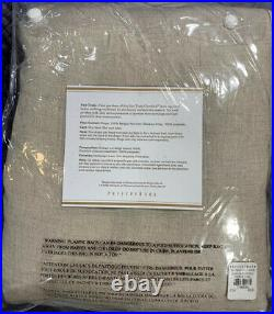 Pottery Barn Belgian Flax Linen Rod Pocket Blackout Curtain 50 x 96, Free Ship