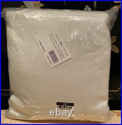 Pottery Barn Belgian Flax Linen Rod Pocket Blackout Curtain 50x84, Ivory