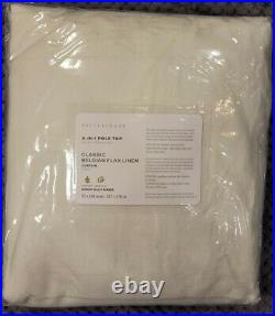 Pottery Barn Belgian Flax Linen Rod Pocket Curtain 50w x 108l, Ivory