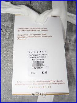 Pottery Barn Belgian Flax Linen Ruffled Shower Curtain Gray 72 New Sold Out