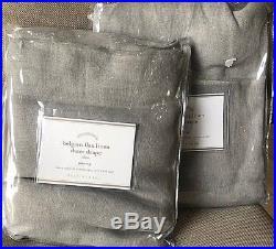 Pottery Barn Belgian Flax Linen SHEER 50x96 drapes GRAY