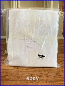 Pottery Barn Belgian Flax Linen Shower Curtain 72x72 White NEW