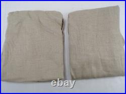 Pottery Barn Belgian Flax Linen Tie Top Panel Drape Curtain Flax 50x 84 #8589