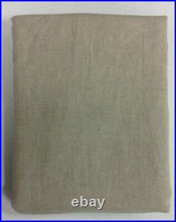 Pottery Barn Belgian Flax cotton Linen Drapes Curtains Panels 50x108 Dark Flax
