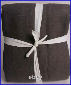 Pottery Barn Belgian Linen Blackout drape curtain with Libeco linen 50x96 charcoal