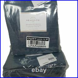 Pottery Barn Belgian Linen Curtain Made with Libeco Linen Midnight set of 4 96
