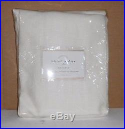 Pottery Barn Belgian Linen Drape 50x84 Ivory 3-In-1 Set Of 2 New With Tags