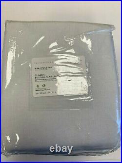 Pottery Barn Belgian Linen Rod Pocket Blackout Curtain White 100 x 108 3 Avail