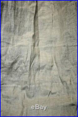 Pottery Barn Belgium Flax Poll top Curtains One pair, 50X108, Natural Linen