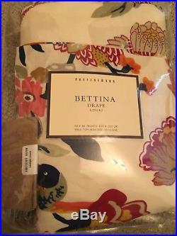 Pottery Barn Bettina Drape 50x84 NWT