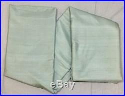 Pottery Barn Blue Dawn Silk Dupioni 84 Blackout Curtains Drapes Panels Set/2