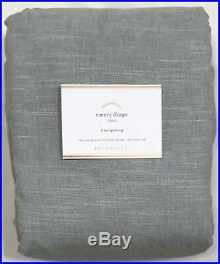 Pottery Barn Blue Emery Linen/Cotton 96 Double-Wide Drape Panel Curtain