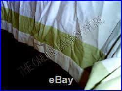 Pottery Barn Box Pleated Marissa Valance cornice Board Drapes Curtains 60x18 GRN