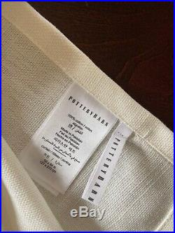 Pottery Barn Broadway Drapes Panels Curtains 84 White 2 sets, 4 panels total