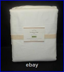 Pottery Barn Broadway Drapes Panels Curtains Pole Top S/ 2 96 White # 7731A