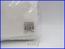 Pottery Barn Broadway Drapes Panels Curtains Unlined S/ 4 White 50 x 108 #7109