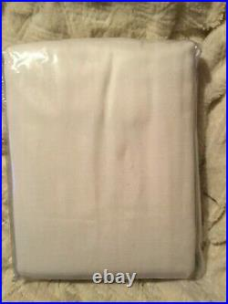 Pottery Barn Broadway Rod Pocket 50 x 108 Curtains DrapesSET OF 2. Ivory NEW