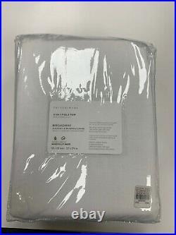 Pottery Barn Broadway Rod Pocket Blackout Curtain Set of 2 50 x 108 White